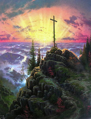 Mountain with cross